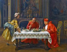 A Hearty Meal - Francesco Brunery the Elder , also known as Frappachino Brunson and as François Bruneri (1849-1926)