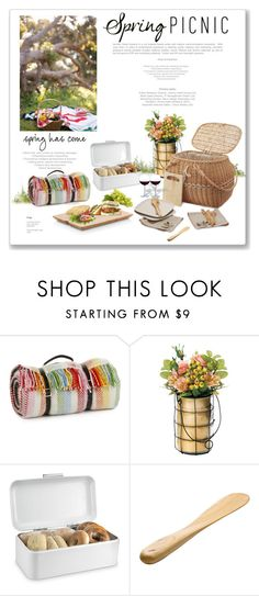 """Spring Picnic"" by m-aric ❤ liked on Polyvore featuring interior, interiors, interior design, home, home decor, interior decorating, Tweedmill, Dot & Bo, Polder and Sobremesa by Greenheart"