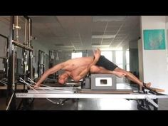 Joseph Pilates hardcore Reformer abs & obliques workout by Matthew (NSFW) Great control and precision. Look at those abs! Pilates Reformer Exercises, Pilates Barre, Pilates Video, Pilates Studio, Pilates Workout, Abs And Obliques Workout, Oblique Workout, Pilates Foam Roller, Pilates For Men