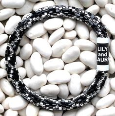 Cut Black and Silver Chain Link - LILY and LAURA® Bracelets