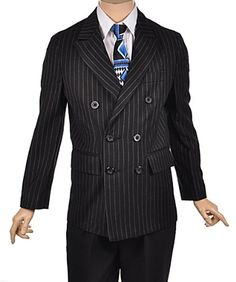 "Sean John ""O.G. Pinstripe"" Double-Breasted Jacket (Sizes 8 - 20)"