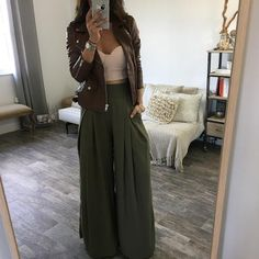 The Chloe Trousers - Olive