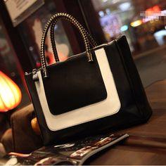 Fashion OL Style Women PU Leather Tote Bags Handbag Satchel Shoulder Bag #FANCYQUBE #EveningBag