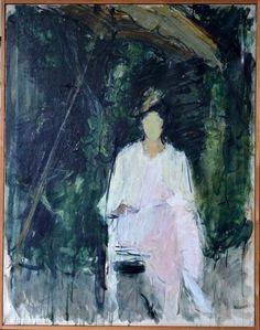 Maleri. 118,5 x 93,5 cm. Olie på lærred.Formentlig forestiller maleriet kunstnerens hustru, Gudrun Biilmann Petersen.<br /><br /> (4000)