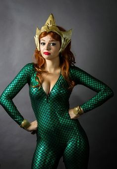 The lovely cosplayer by the name of, Oki, recently unveiled her newest costume, that of Aquaman's wife, Mera. Her first appearance was in Aquaman Aquaman Cosplay, Dc Cosplay, Best Cosplay, Cosplay Girls, Cosplay Costumes, Wicked Costumes, Gotham Girls, Female Hero, Amazing Cosplay