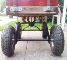 Got wood? Lifted Radio Flyer Town and Country.