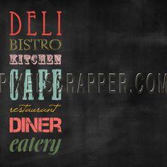 Kitchen Paper Chalkboard Words Color by Brooke Gazarek | Pixel Scrapper digital scrapbooking