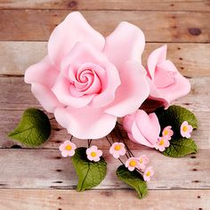 Radox Rose Sprays in Pink are gumpaste sugarflower cake decorations perfect as cake toppers for cake decorating fondant cakes and wedding cakes. | CaljavaOnline.com