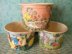 Vintage Lot of 3 Dixie Easter Wax Cups for by SongbirdSalvation