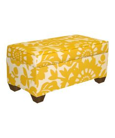 Take a look at this Skyline Furniture Sun Gold Gerber Storage Bench by Yellow & Gray Collection on #zulily today!