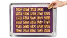 Perfect Portion Bliss Bars | Epicure.com Easy Lunch Boxes, Lunch Box Recipes, Quick Dinner Recipes, Lunch Snacks, Whole Food Recipes, Bar Recipes, Lunches, Healthy Recipes, Bliss Bar