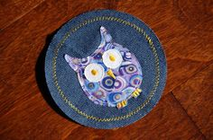 Owl Applique Iron On Knee Patch For Children by KneeCapsByAliljoy, $4.25