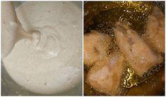 Steps to make batter fried fish Baja Fish Tacos Sauce, Mexican Fish Tacos, Baja Fish Taco Recipe, Baja Sauce, Fish Tacos With Cabbage, Fried Fish Tacos, Fried Catfish, Pickled Cabbage, Cabbage Slaw