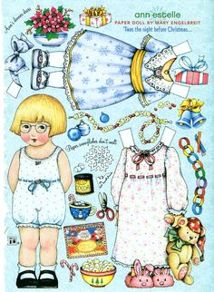 Uncut Paper Doll Christmas Eve by Mary Engelbreit