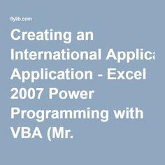 Creating an International Application - Excel 2007 Power Programming with VBA (Mr. Spreadsheets Bookshelf)