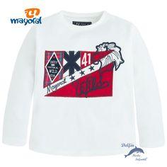 Camiseta niño MAYORAL manga larga bordado bandera