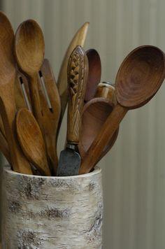 Antique Wooden Spoons