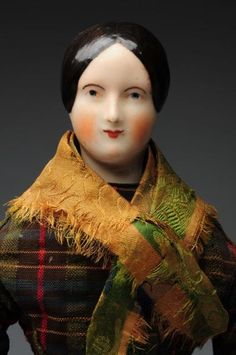 "Lot # : 12 - Rare All Original 14"" China Doll with China Limbs"