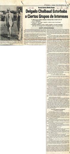 Asesinato de Carlos Delgado Chalbaud. Publicado el 13 de noviembre de 1980.