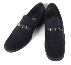 Paul Green Shoes Womens 10 Black Leather Loafers #PaulGreen #LoafersMoccasins