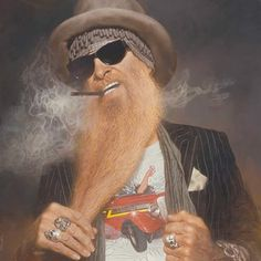Rock N Roll Music, Rock And Roll, Frank Beard, Billy Gibbons, Enjoying The Small Things, Zz Top, Beard Grooming, Sharp Dressed Man, Men Dress