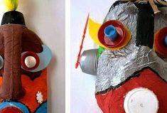 MÁSCARAS- Alumnos de 5º En esta ocasión, quiero mostrar estas máscaras que han realizado los alumnos de 5º de primaria. Se trata de una idea creativa que nos muestra como los envases de plástico pueden tener una segunda vida.