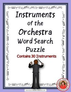 music lessons | Instruments of the Orchestra Word Search Puzzle This Word Search Puzzle contains… #musiceducation