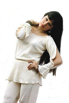 Peruanische Langarm weiße #Folklore Damen #Bluse Sommerbluse offene Arme ökologische Pima Baumwolle #Biobaumwolle