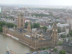 My favorite pic of London taken from the Millenium Eye. Ride London, Paris Skyline, New York Skyline, Places In England, Bay Of Islands, Western Caribbean, Houses Of Parliament, Westminster Abbey, London Eye
