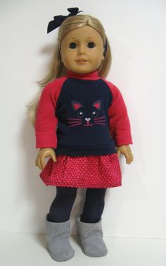 Perfect outfit for your favourite American Girl Doll    What you get...    Sweater ... an adorable wear-anywhere sweater. It is in navy blue
