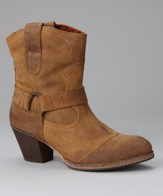 Take a look at this Sixty Seven Tan Buckle Boot by Sixty Seven & MTNG on #zulily today!