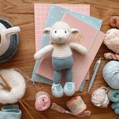 Starting 2018 by ignoring all of the overdue housework and knitting bunnies and lambs instead. Hope to have a batch dressed in pinks and blues in time for Easter. It's nice to be playing with pretty colours on such full days :-) . . #littlecottonrabbits #knittersofinstagram #knittedtoys #knitstagram #handmadetoys #handmadewithlove #handmadedolls #toyknitting #thehappynow #mytoolsforhappiness #amigurumi #handknit #handknittoys #ofquietmoments #smallmomentsofcalm #embracingtheseasonsathome…