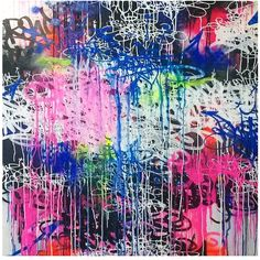 Toile 100x100 cm. Issue de la série 'Tags & Abstract'. Atelier Paris Septembre 2014. JP Malot.  http://www.jpmalot.blogspot.fr/2014/10/orsay-oner-serie-tags-abstract-2014.html