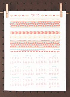 Love this calendar printable download from Love versus Design...other colors available
