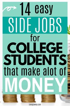 14 easy side jobs for college students that are looking to earn extra cash. These are great side hustles if you are looking to make money from home this summer. I can't wait to give a few of these a try! #makemoney #makeextracash #sidehustles #makemoneycollegestudents #sidejobs #collegestudents Make Money Fast, Make Money Blogging, Make Money From Home, Make Money Online, Earn Extra Cash, Making Extra Cash, No Spend Challenge, Best Online Jobs, Cash Today