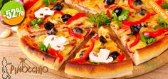 Pinocchio Restaurante - $69 en lugar de $145 por 1 Pizza Mediana de Pepperoni, Hawaiana o Champiñones Click http://cupocity.com