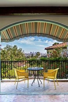 Just one of the patios, this lookout boasts a view of the city