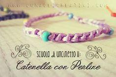 LUNAdei Creativi | Scuola di Uncinetto (Lezione 11): Catenella con Perline | http://lunadeicreativi.com