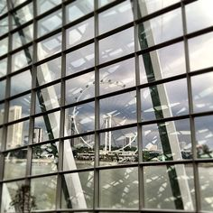 View of #Singapore #flyer from #Garden by the bay #tourism #iphone4s #nofilter #architecture #sg #tourist #attraction #guosheng #guoshengz