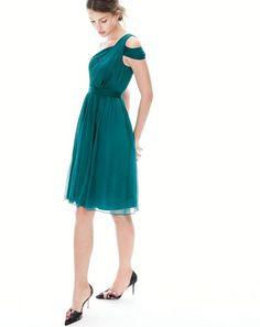 NOV '15 Style Guide: J.Crew women's Cara dress in silk chiffon.
