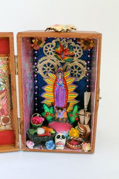 Our Lady of Guadalupe Virgin Mary Mexican folk art shrine