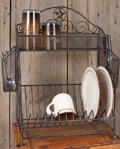 Metal Star Dish Rack::Kitchenware::Decor & Gifts::Fort Western Online