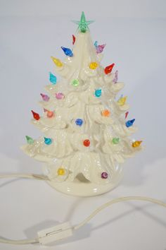 Small White Christmas Tree ceramic and in storage. Love this!!