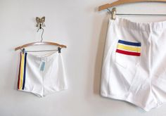 JUST LISTED vintage 70's booty shorts track shorts mini DEAD STOCK with tags by foxandfawns, $20.00