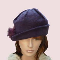 City+Sailor+Flower+Trimmed+Cloche+Hat+With+by+ArishaHatters,+$55.00