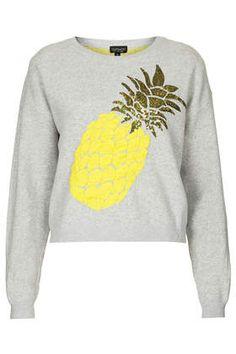 Pineapple Motif Jumper