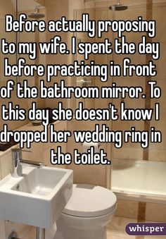 Whisper App. Wedding proposal confessions.