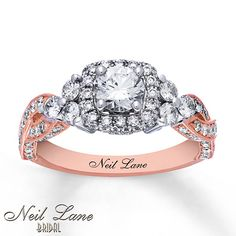Neil Lane Engagement Ring 1-5/8 cttw Diamonds 14K Two-Tone Gold