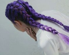 Imagem de hair, purple, and hairstyle