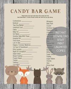 woodland baby shower games banner